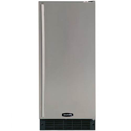 Marvel 15 inch built in refrigerator with black cabinet for 15 inch door