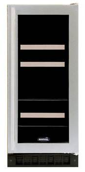 Marvel Beverage and Wine Fridge - 15  Width - White Cabinet with White Frame Glass Door