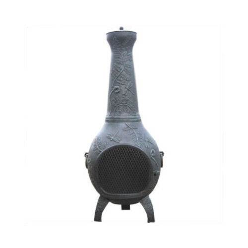 Blue Rooster Dragonfly Cast Aluminum Gas Chiminea