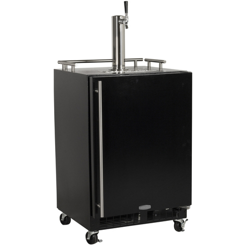 Insignia 1-Tap Kegerator (NS-BK1TSS6) - Silver/Black: Impress the guests at your next party with a perfect pour from the Insignia Kegerator. This 1-tap refrigerator and beverage cooler has cu. ft. of capacity for your favourite keg, and includes a CO2 canister (uncharged) along with a